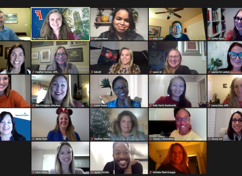 Zoom meeting featuring the 2021 PRSA Orlando Board