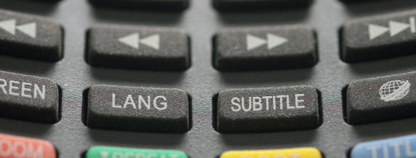 Image of buttons on a TV remote control